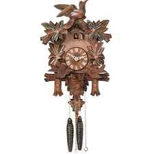 Cuckoo Clock with Moving Birds, Feed Nest, Painted Flowers