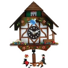 Quartz Novelty Clock with German Chalet, Bird and Well Design