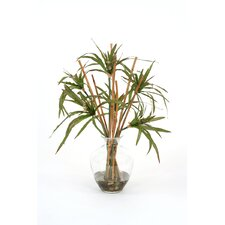 Silk Umbrella Grass in Vase