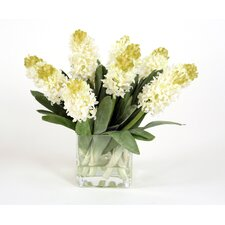 Silk Hyacinths in Square Vase