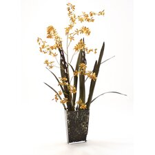 Silk Arrangement in Leopard Print Vase