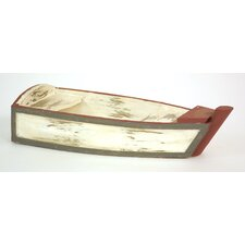 Decorative Small Wood Boat (Set of 2)