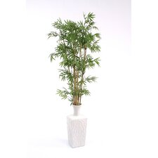Tall Silk Japanese Bamboo in Ceramic Kira Floor Vase