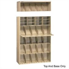 Letter Size Stackable Filing System, Base & Top