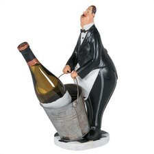 Butler in Black Tuxedo Wine Holder