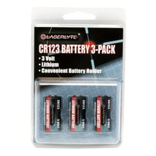 3V CR-123 Batteries (Pack of 3)