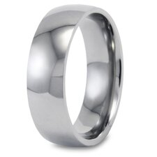 Stainless Steel Polished Domed Ring