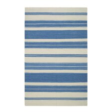 Jagges Stripe Faded Azul Rug