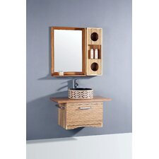 "35.5"" Single Bathroom Vanity Set with Mirror"