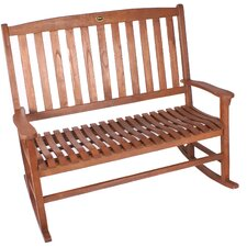 Double Rocker Wood Garden Bench