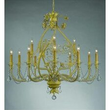 Regis 12 Light Chandelier in Champagne
