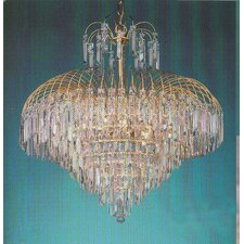 Elegance Twelve Light Chandelier with Swarovski Spectra Crystals in 24K Gold Plated