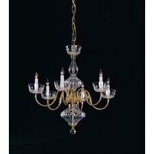 Colonial 6 Light Chandelier