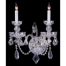 Bohemian Crystal 2 Light Candle Wall Sconce