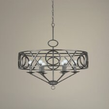 Odette Six Light Chandelier in English Bronze