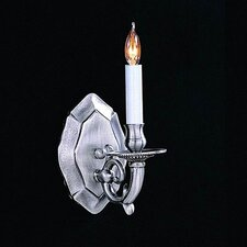 Historical 1 Light Traditional Candle Wall Sconce