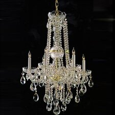 "Bohemian Crystal  22"" Candle Chandelier"