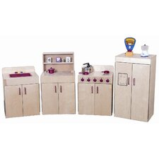 4 Piece Classic Appliances Set with Hutch