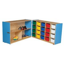 Half and Half Storage Unit with 20 Assorted Trays
