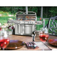 Prestige II Gemini Gas Grill with Infrared Side Burner and Doors