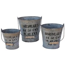 Bordeaux Oval Bucket (Set of 3)