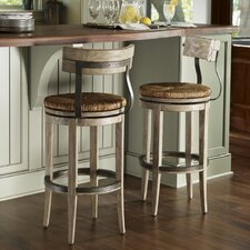 Twilight Bay Dalton Bar Stool in Distressed Textured Soft Taupe Gray