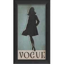 Vogue Silhouette Small Wall Art