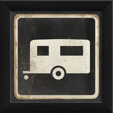Camper Sign Black Wall Art