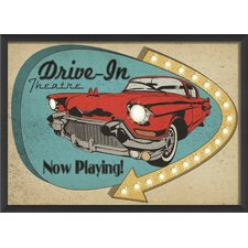Drive In Sign Wall Art