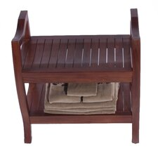 LiftAide Contemporary Teak Spa Shower Bench