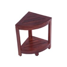 2 Tier Classic Spa Teak Corner Shower Shelf