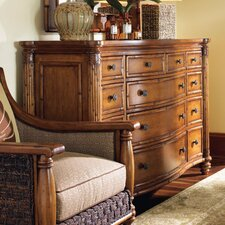 Island Estate Barbados Triple 13 Drawer Dresser