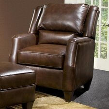 Russell Leather Chair and Ottoman