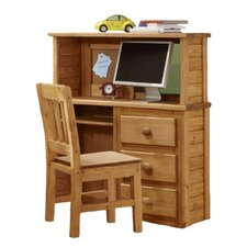 "43"" W Computer Desk with Desktop Hutch"