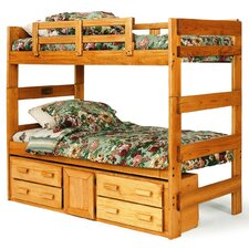 Extra Tall Twin over Twin Standard Bunk Bed with Underbed Storage
