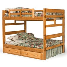 Full over Full Standard Bunk Bed with Underbed Storage