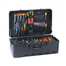 "Stream-lined Tool Case with Built-in Cart: 11"" H x 21 1/2"" W x 12 1/2"" D"