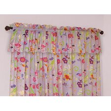 Magic Garden Cotton Rod Pocket Curtain Panel Pair