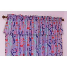 Little Girl Tea Set Cotton Rod Pocket Tailored Curtain Valance