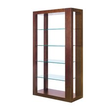 Dado 5 Tier Glass Shelf Wall Unit