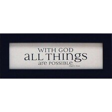With God All Things Are Possible Print Art