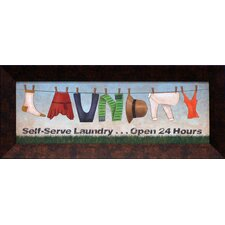 Self Serve Laundry Framed Art