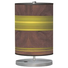 Organic Modern Horizontal Stripes Cylinder Table Lamp