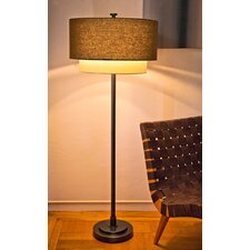 Double Shade 1 Light Floor Lamp