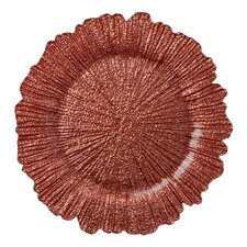 "Sea Sponge 13"" Glass Charger Plate"