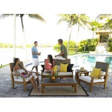 Leeward Islands 5 Piece Lounge Seating Group with Cushions