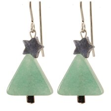 Christmas Tree Gemstone 14 Kt Goldfilled Earrings