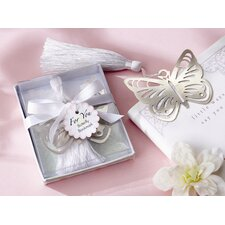 ''Butterfly'' Bookmark with White Silk Tassel