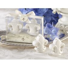 """Fleur-De-Lis"" Ceramic Salt and Pepper Shaker"