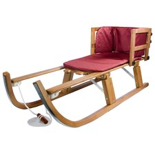 Heirloom Wooden Foldable Pull Sled with Pad